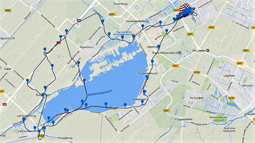 Route training 12 juni los om 1830 uur