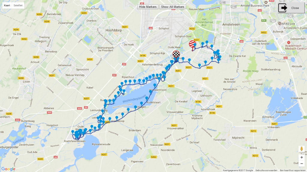 Route training 8 juni los om 1645 uur